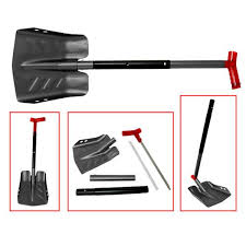 SPX SNOW SHOVEL ALUMINUM BLACK